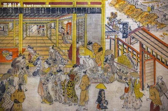 《Great Gateway and Nakano-cho in the Shin Yoshiwara》,奥村政信(Okumura Masanobu),1730s-1740s
